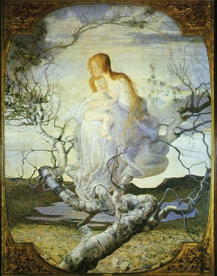 Giovanni Segantini - L'angelo della vita (1894)