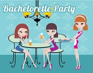 Free Bachelorette Party Invitations- Dinner Party