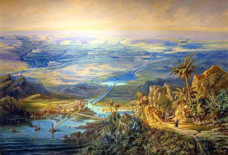 Albert Rieger- Le Canal de Suez (1864)