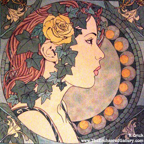 Art Nouveau Patterns Designs | Art_Nouveau_Ivy_Portrait_by_enchantedgal