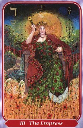 The Empress Tarot Card from the Spiral Tarot Deck