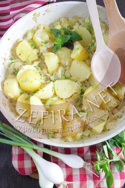 Картошка в сливочном соусе с кабачками-домашние рецепты с фото