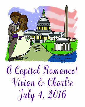 Planning a wedding in our nation's capitol? This design of #WashingtonDCcouple will make a big impression on your guests. We colorize the skin, hair and accessory colors to match yours. This design is available on #weddingsavethedates #weddingthankyounotes #waterbottlelabels #signatureposters and more. Visit www.favorsyoukeep.com and call 512.323.0600 for more product information. Our 27th year! #washingtondcweddingplans