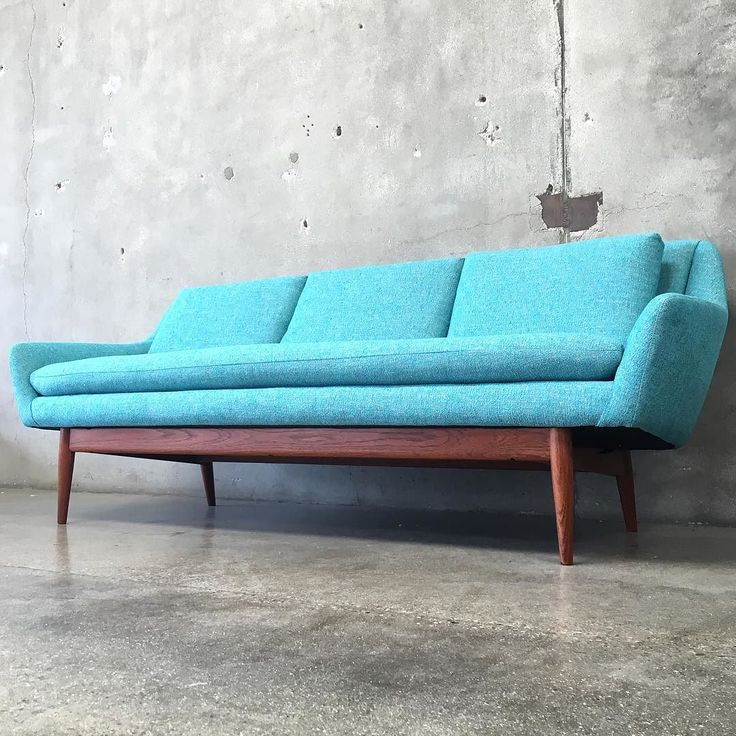 Beautiful #vintage #danishmodern #sofa FOR SALE $3,250 all new foam, straps & upholstery! You can find this couch for sale @urbanamericana and yes shipping / delivery is available!  by...