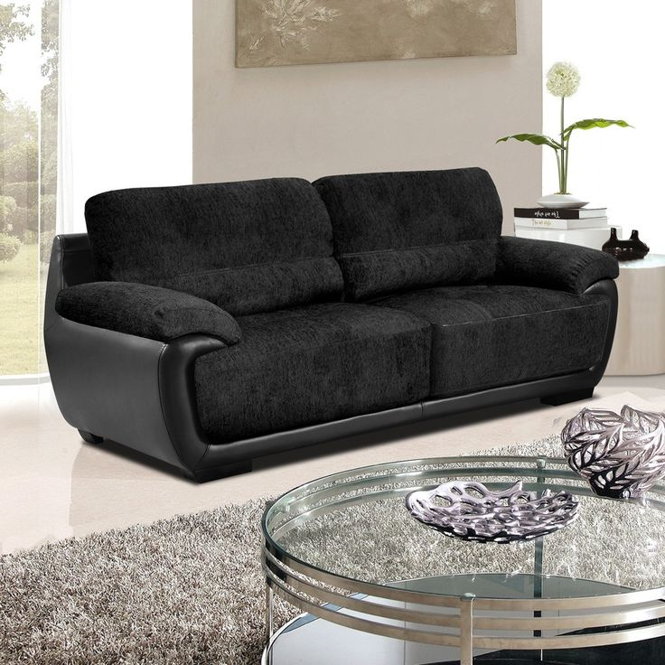 Perfect Black Fabric Sofas 93 Seater Sofa Inspiration With Fancy