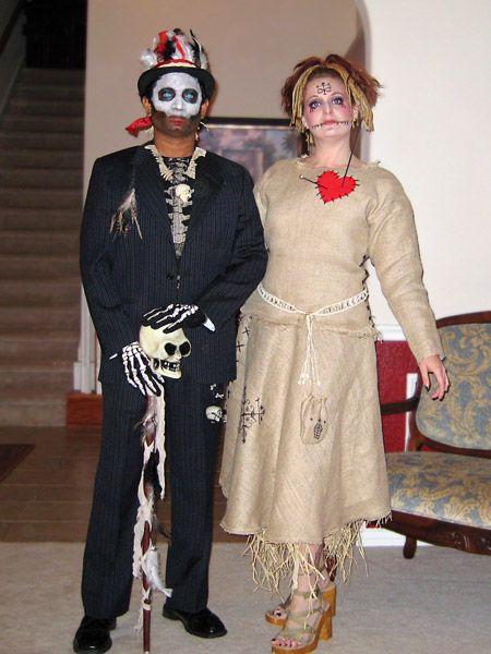 Voodoo Doll Halloween Costume Ideas | Baron Samedi (Witch Doctor/Voodoo Priest) & Voodoo Doll