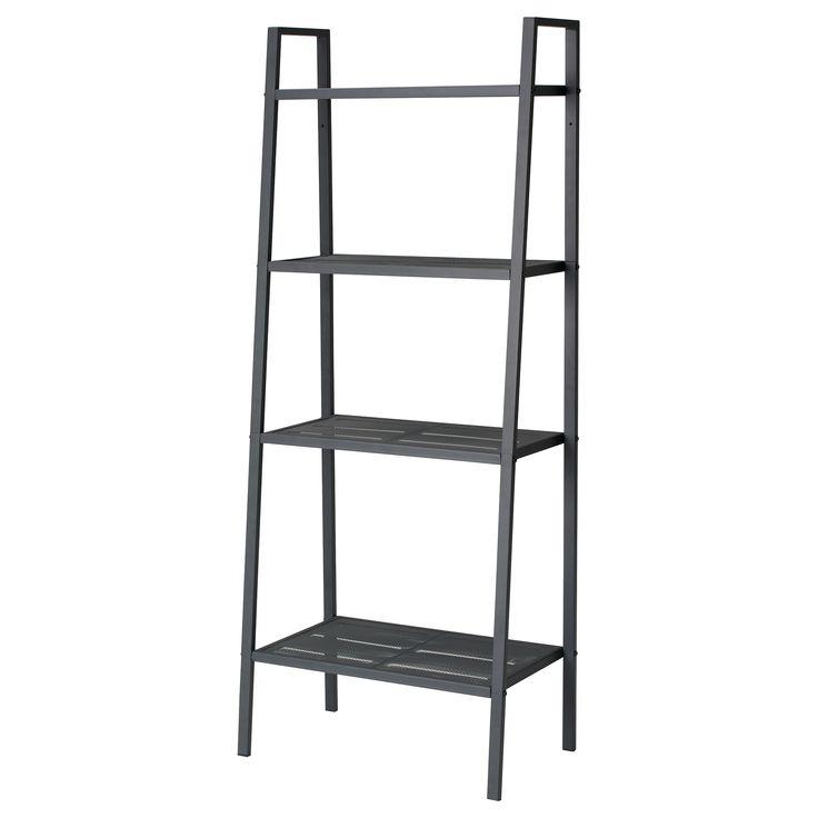 LERBERG Shelf unit - dark gray - IKEA