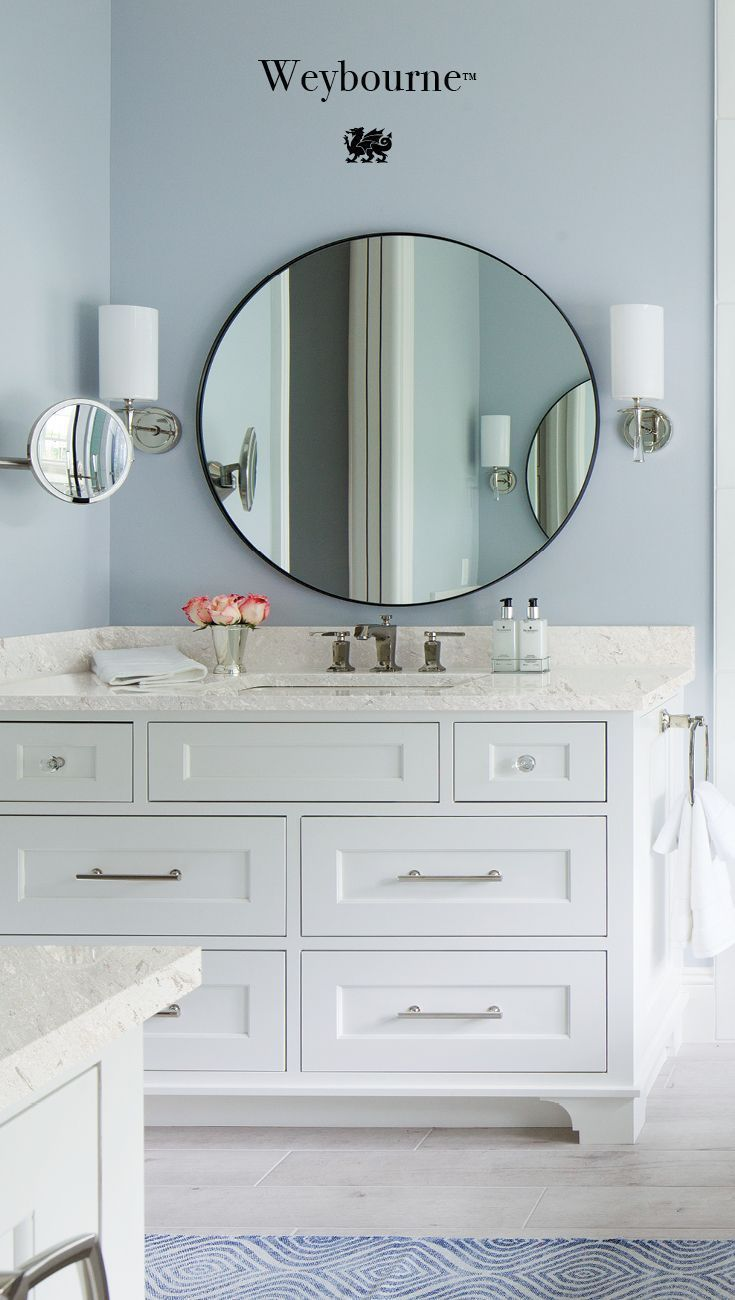 weybourne countertops are a luxurious choice for a serene bathroom rh pinterest com