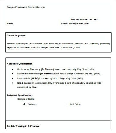 The 25+ best Resume format for freshers ideas on Pinterest - sample resume for jobs