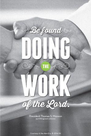 Do good works!