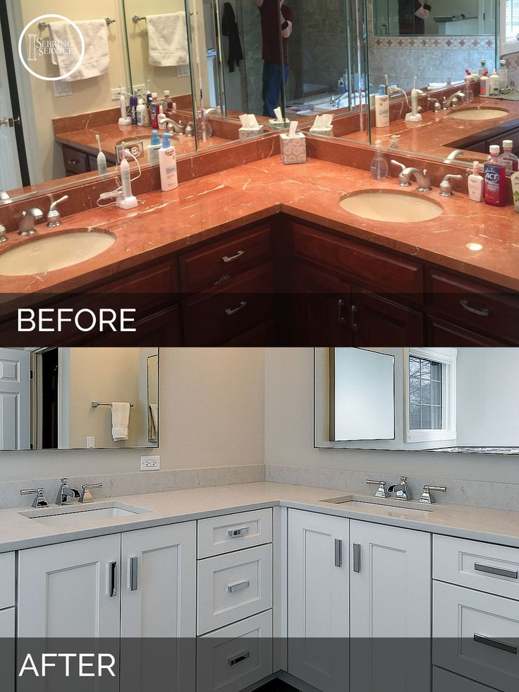 Hinsdale Master Bathroom Before & After - Sebring Services