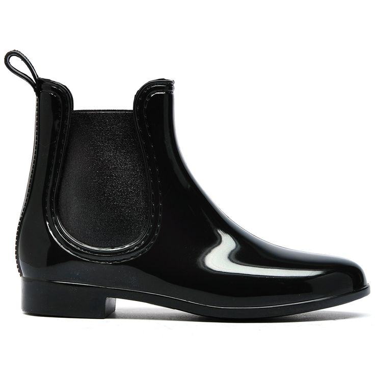 GALOSHES by MOLLINI. Chelsea gumboot with self pull-tab, matching stitching and shiny elastic. Synthetic upper, synthetic lining and synthetic sole.