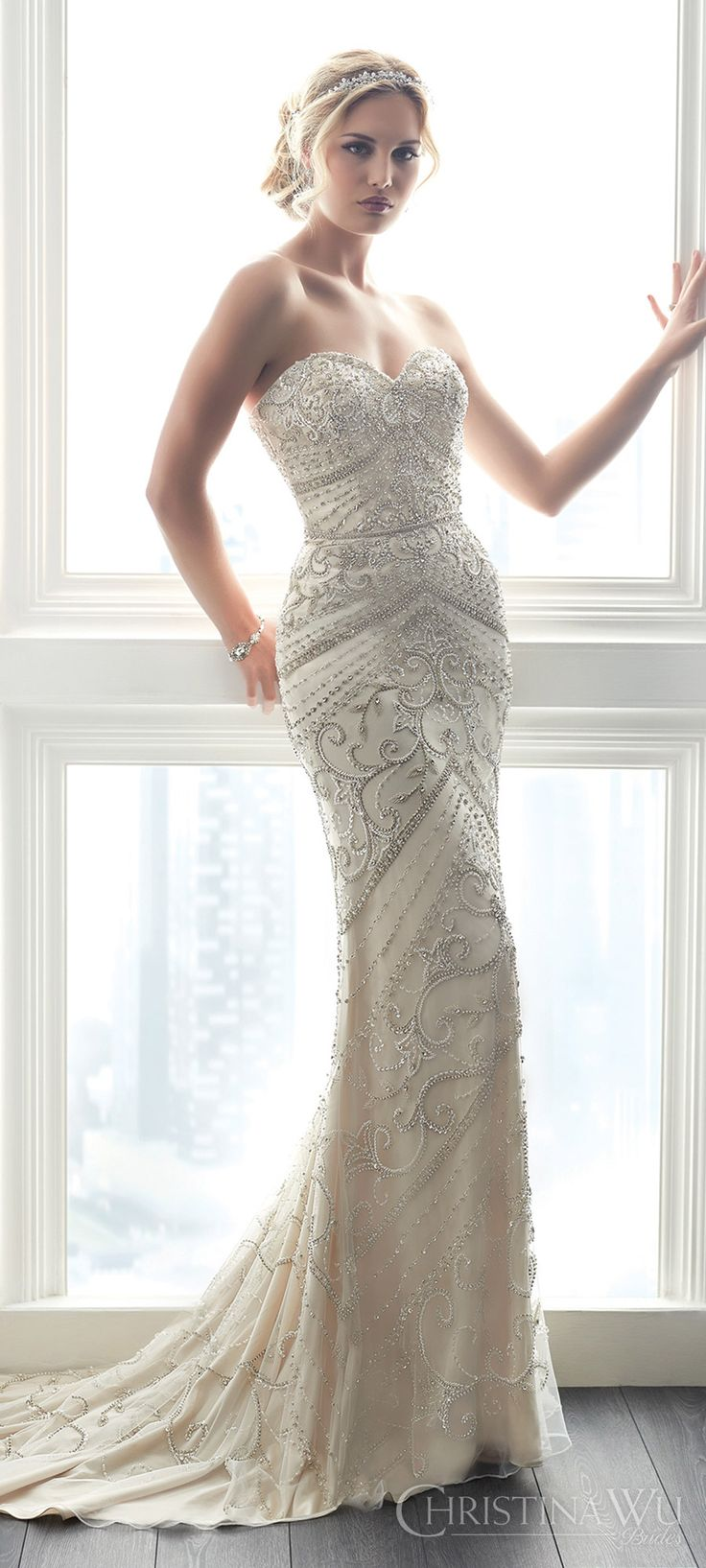 Best 25+ Beaded wedding dresses ideas on Pinterest