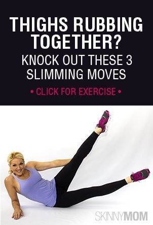 Who likes their thighs rubbing together? No one! Try these 3 slimming moves to get those gorgeous legs back!