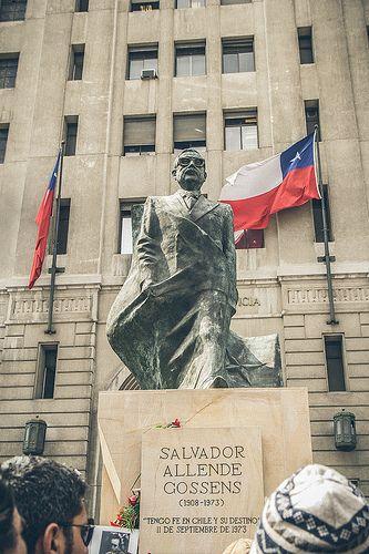 Homenaje a Salvador Allende.