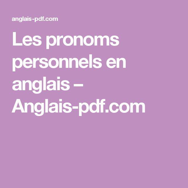 Assez Les 25 meilleures idées de la catégorie Pronoms anglais sur  JC31
