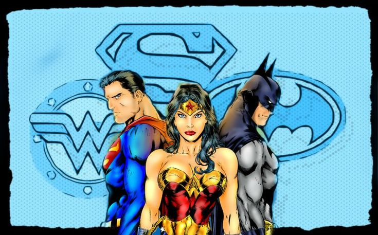 Superman, Wonder Woman, and Batman by ~coolcatemy