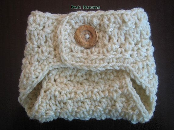 Instant Download Crochet PATTERN - Diaper Cover Baby Seed Stitch Soaker PDF 285 - Newborn to 3 Months - Photography Prop