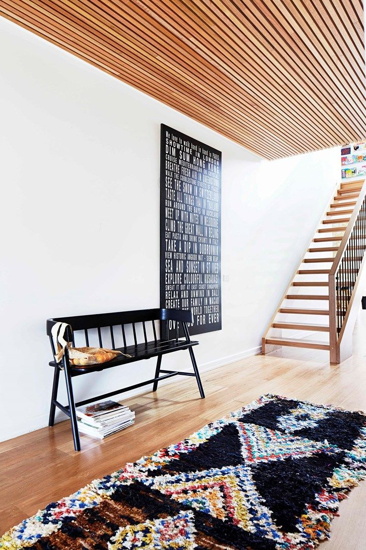 Entrance area custom scroll | Home Beautiful Magazine Australia