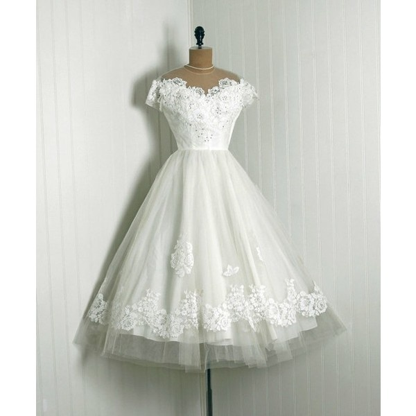 1950's Clothes / 1950's Priscilla of Boston White Chantilly Lace &... via Polyvore: Boston White, 1950 S Style, Chantilly Lace, 1950S Heaven, Wedding Dress, 1950 S Clothes, 1950S Fashion