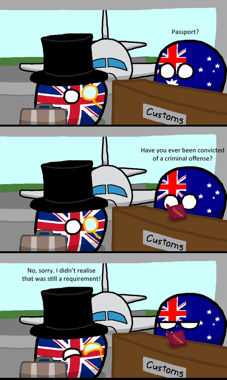 Britain on the requirements for entering 'Straya.