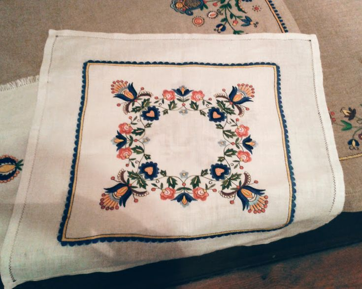 Embroidered napkin from MSC in Kluki