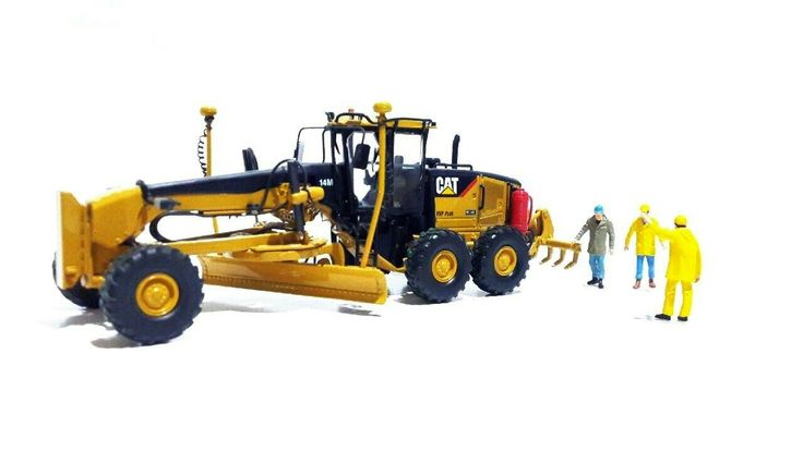 Norscot Cat 14M motor grader.  Customized hydraulic line, fire suppression, mirror, and accugrade