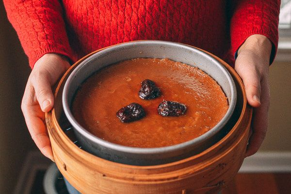 Chinese New Year Sweet Rice Cake (Nian Gao), by thewoksoflife.com