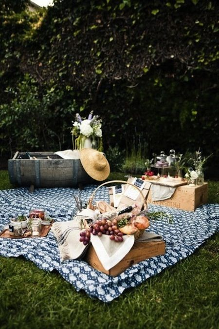 I stil have my lovely, Grandmothers,   Traditional Checkered Tablecloth from Flour Sacks....Inside my Picnic Basket....We use it inside if it's cold/rainy and of course....along side a lake (preferably in The Ozarks)