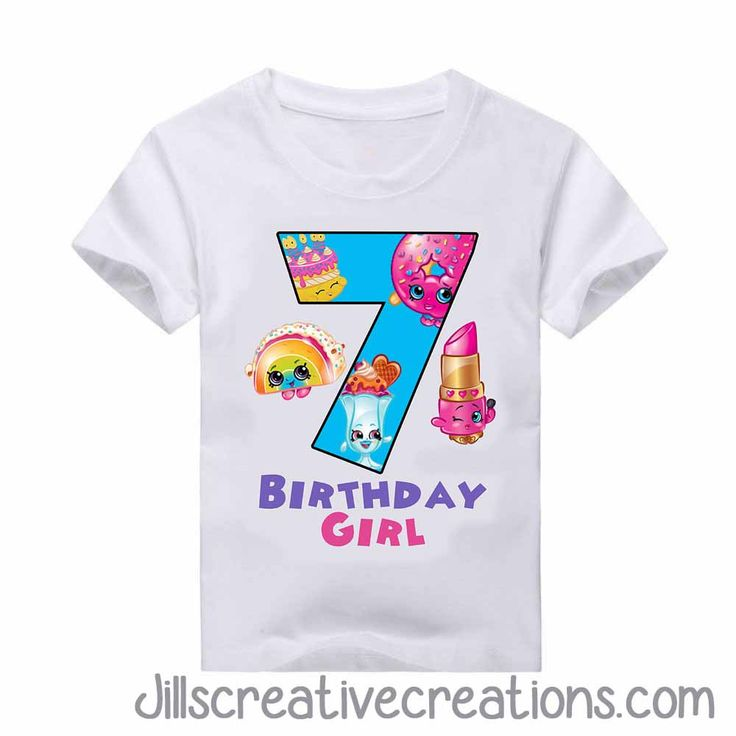 Shopkins T-Shirt, Birthday Girl and Age