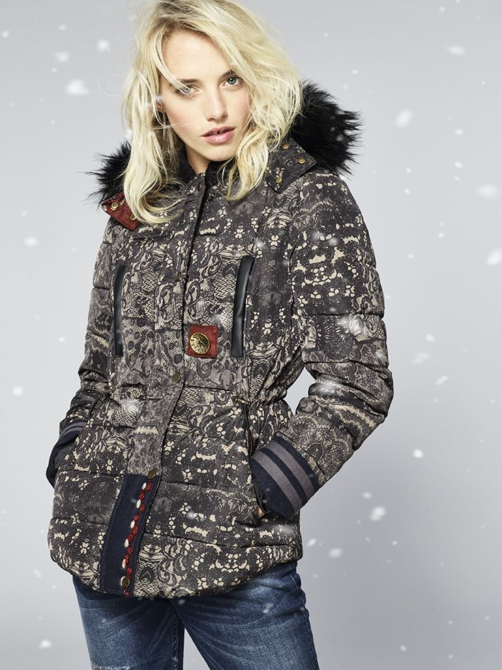 Bored of the same ol' puffer? Turn up the heat (and style) with this lace print.