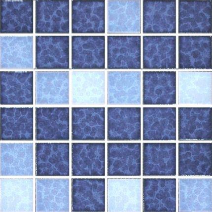 马赛克瓷砖 结晶釉冰裂花地中海陶瓷 蓝色游泳水池卫生间浴室阳台