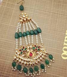 Buy Green Red Jhoomar Passa maang-tikka online