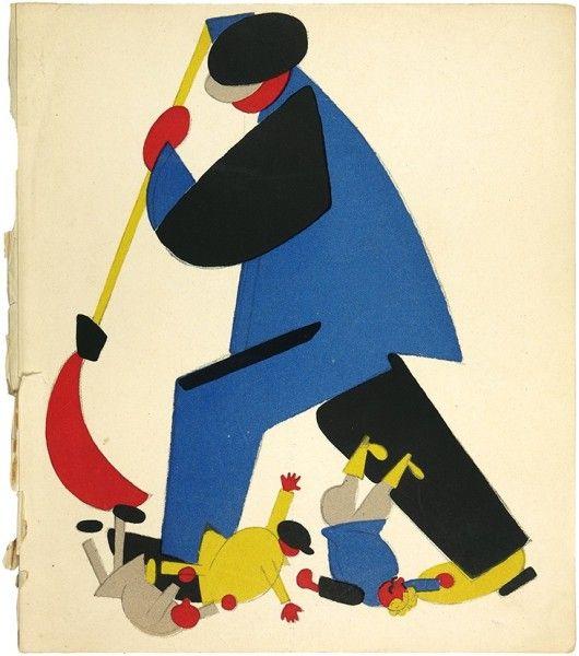 ЛЕБЕДЕВ, ВЛАДИМИР ВАСИЛЬЕВИЧ. Четыре листа из альбома «Русский плакат 1917–1922». Листы 5 - 8.