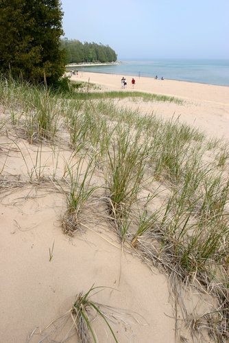 Whitefish Dunes State Park in Door County, Wisconsin used to be a nude beach in the good old days...