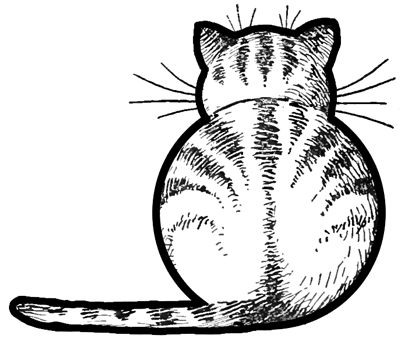 Step finished cats from back How to Draw Kitty Cats from the Back Easy Step by Step Drawing Tutorials for Kids & Preschoolers