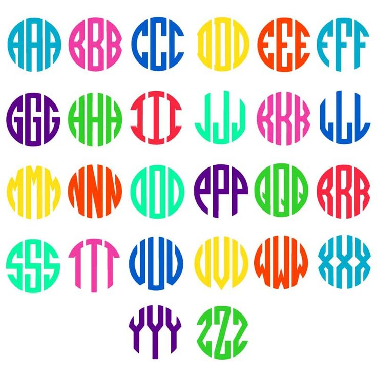 Circle Monogram Alphabet SVGmonograms