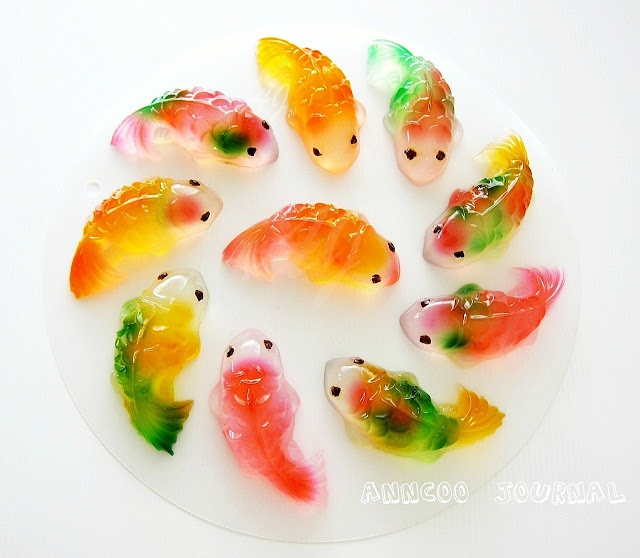 Koi jellies dessert she makes food pinterest jelly for Best food for koi fish