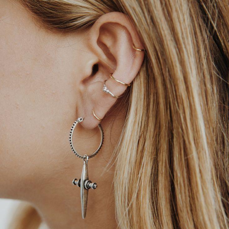The Cross Hoops- Silver | Luv Aj: