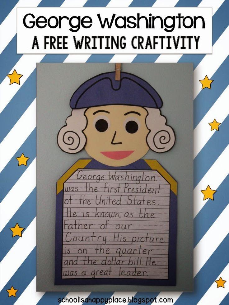 FREE George Washington Writing Craftivity