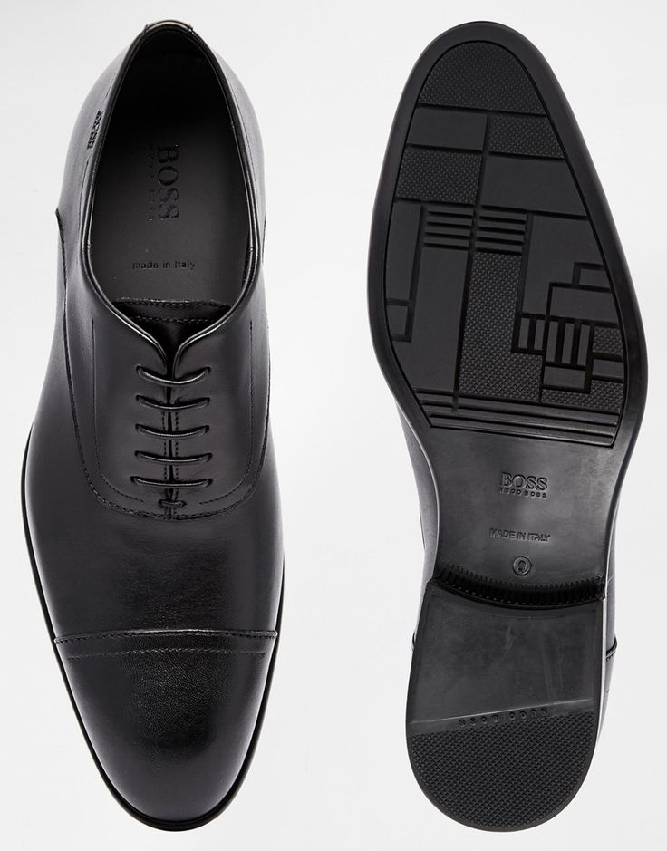 Hugo Boss Black Urannio Oxford Toe Cap Shoes