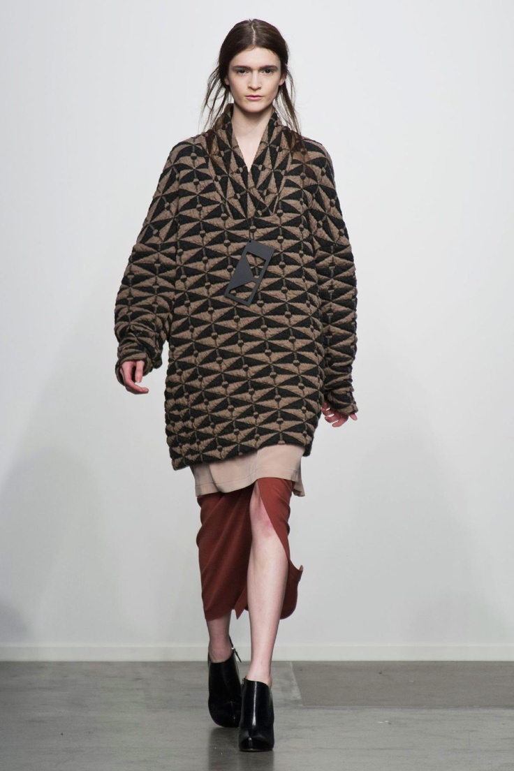 Jeremy Laing - Fall 2013....Loving this sweater pullover! The pattern rocks!