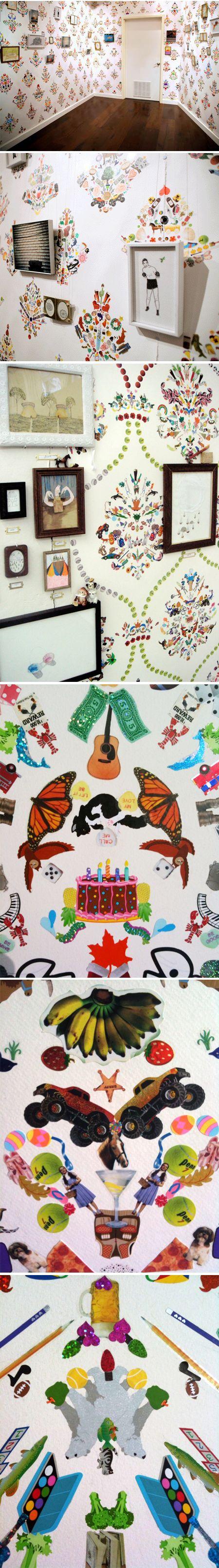 Payton Turner & Brian Kaspr hand-made sticker wallpaper