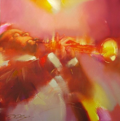 Jazz paintings by Denis Oktyabr - Beauty will save