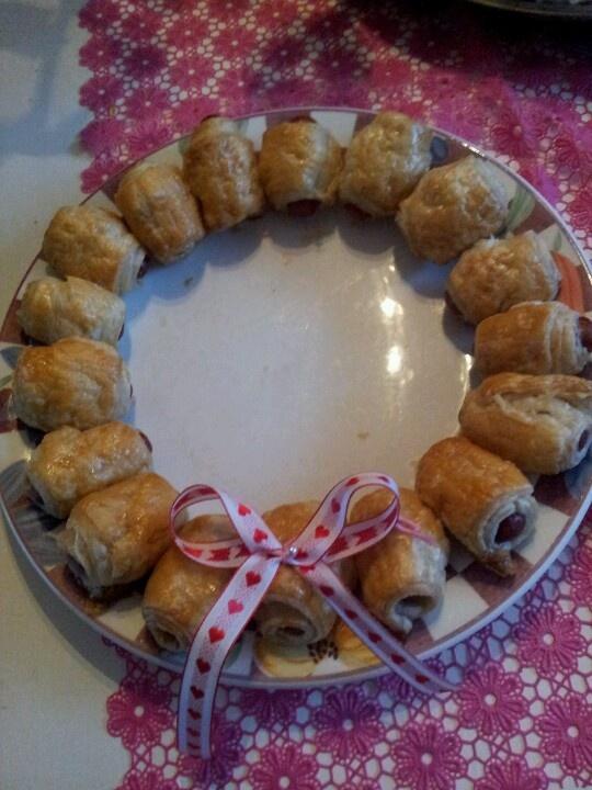 Worstenbroodjes voor Kerstdiner