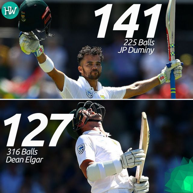 Two gritty knocks by JP Duminy and Dean Elgar helped South Africa put a massive lead of 388 on the board! #AUSvSA #AUS #SA #cricket