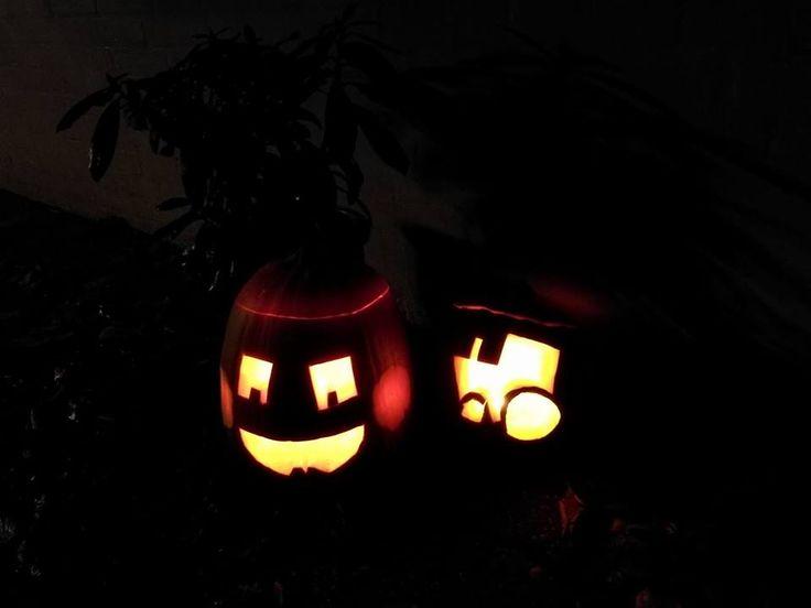 Halloween med traktor
