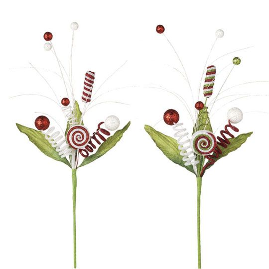 Christmas floral sprays from the RAZ Cookie Confection Collection  http://www.shelleybhomeandholiday.com/cookie-confection-by-raz.html