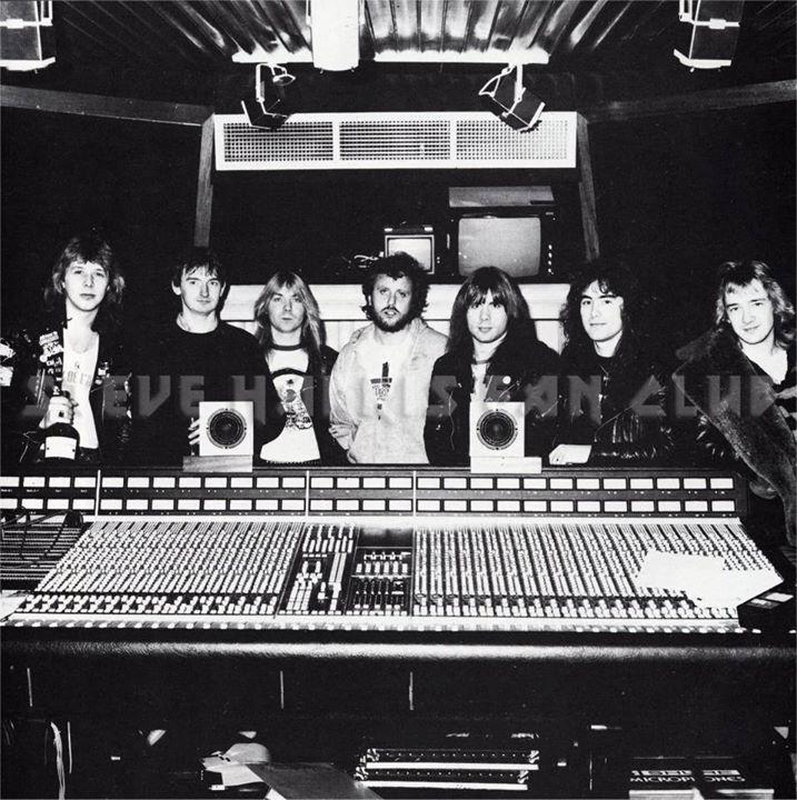 1982 durante la grabación de The number of the beast