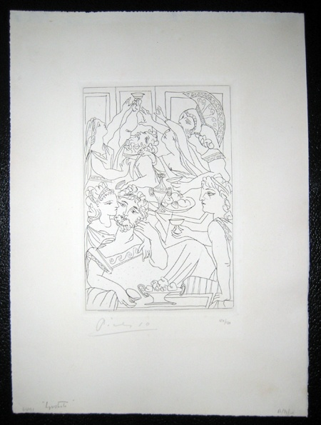 """""""Le Banquet""""   Etching on Velin, watermarked, signed in pencil"""